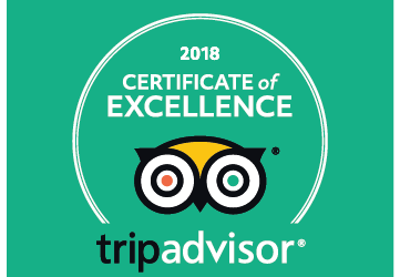 The Fish Bar wins a Tripadvisor 2018 Certificate of Excellence